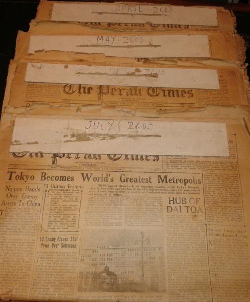 The Perak Times, 1 April - 31 July 2603 (i.e. 1943), Ipoh, Perak. British Library, ORB.99/234