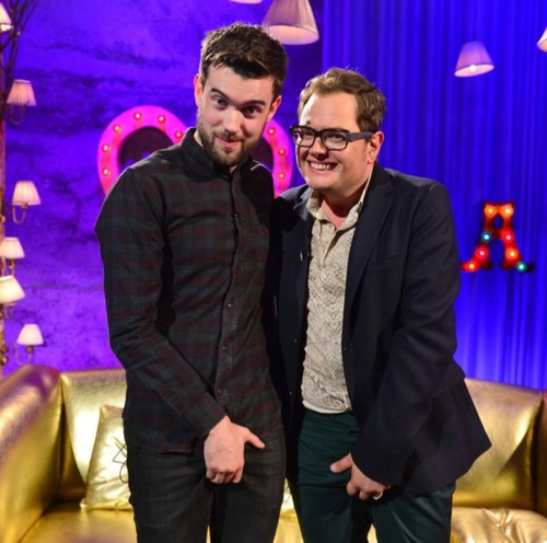 Jack Whitehall and Alan Carr feeling nuts
