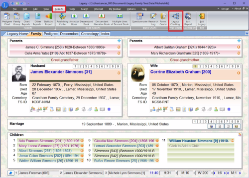 Charting on Reports Toolbar