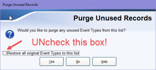 Purge Unused Records