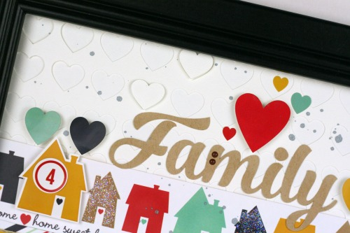 "Family Frame created by Tania Willis with the ""Our Family"" Collection from #echoparkpaper"