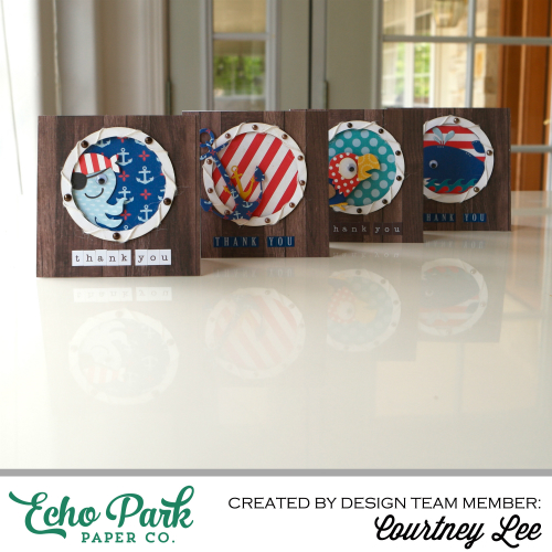 """""""Pirate's Life"""" Porthole Card Set featuring products (including designer dies) by #EchoParkPaper"""
