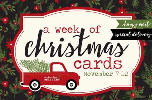 A Week of Christmas Cards #EchoParkPaper #CartaBellaPaper