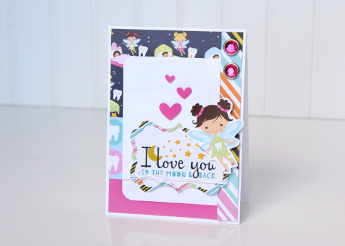 """Fairy Card by Jana Eubank with the """"Toothfairy Mini Theme Collection Kit"""" by #EchoParkPaper"""
