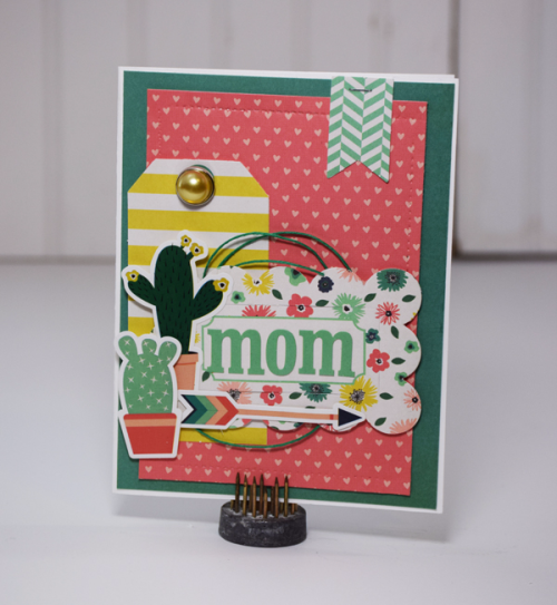 "Celebrating Motherhood with this card by Tya Smith for #EchoParkPaper with the ""Just Be You"" Collection"