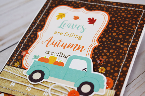 "Autumn Leaves Card by Becki Adams with the ""A Perfect Autumn"" collection by #EchoParkPaper"