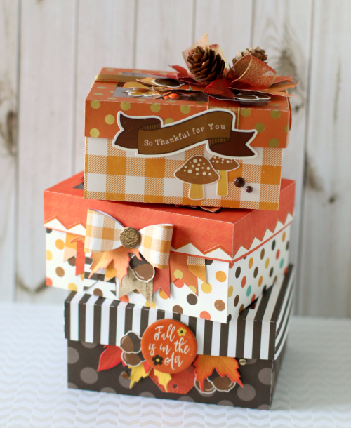 "Autumn Goodie boxes by Anya Lunchenko with the ""A Perfect Autumn"" collection by #EchoParkPaper"