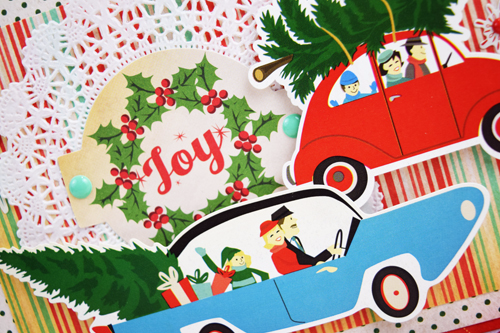 "Joy Christmas Card by Becki Adams featuring ""A Very Merry Christmas"" Collection by #CartaBellaPaper"