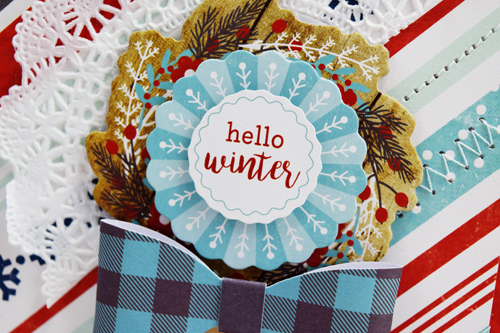 "Hello Winter Card by Becki Adams with the ""A Perfect Winter"" collection by #EchoParkPaper"