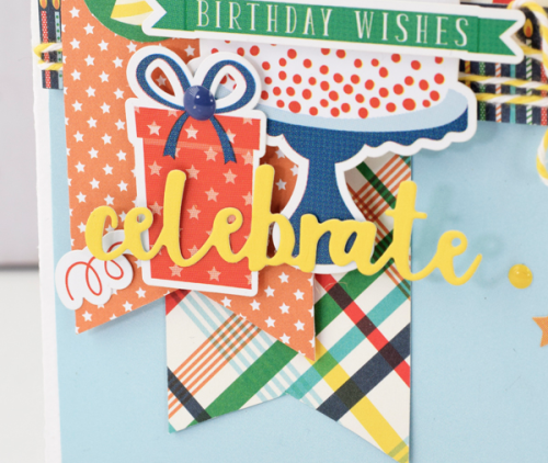 """Celebrate"" Birthday card by Tya Smith with the ""Happy Birthday Boy"" Collection from #EchoParkPaper"