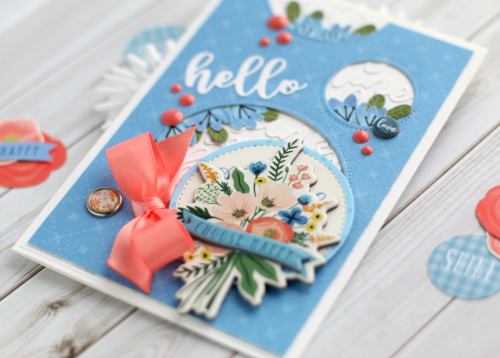 "Hello Card by Anya Lunchenko with the ""Flora No. 2"" collection by #CartaBellaPaper"