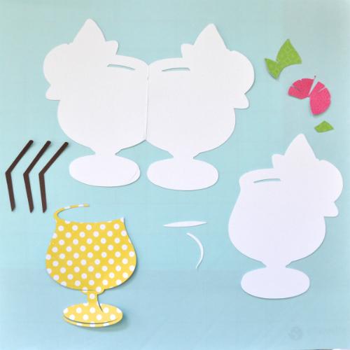 Lemonade Shaped Card by Courtney Lee for #echoparkpaper