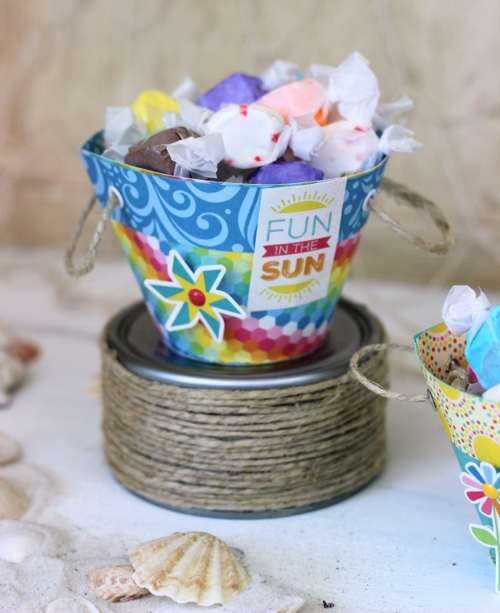 """""""I Love Sunshine"""" Treat Buckets by Holly Gagnon for #echoparkpaper"""