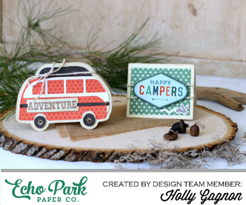 """Outdoor Adventure Card Set by Holly Gagnon with the """"The Wild Life"""" collection and Silhouette shapes by #EchoParkPaper"""