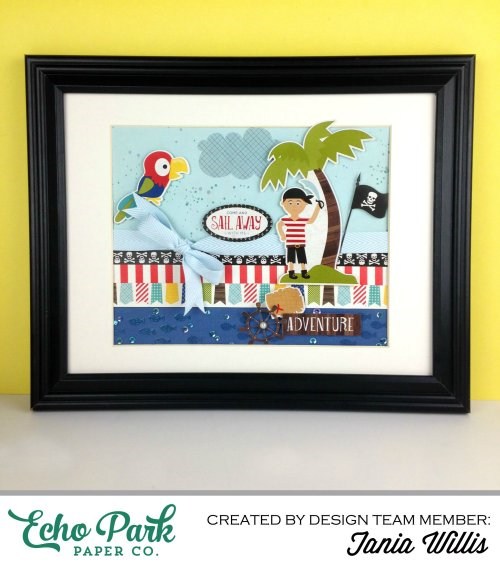 """Pirates Life"" framed decor by Tania Willis for #EchoParkPaper"