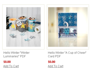 "Download the FREE supply lists and instructions for this ""Hello Winter"" projects by #EchoParkPaper"