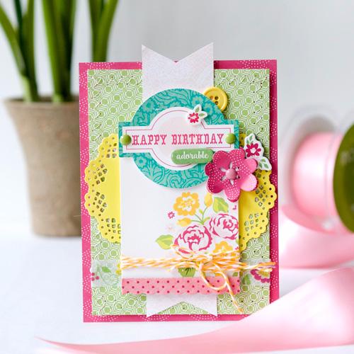 Create a floral Petticoats Happy Birthday Card Echo Park Paper – Create a Birthday Card