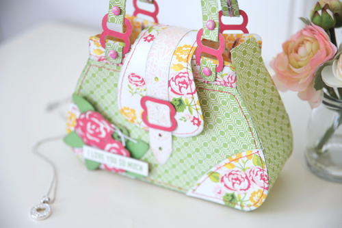 """Purse Shaped Gift Bag by Jana Eubank featuring the """"Petticoats"""" collection and Silhouette shapes by #EchoParkPaper"""