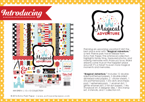 "Echo Park's ""Magical Adventure"" product catalog"