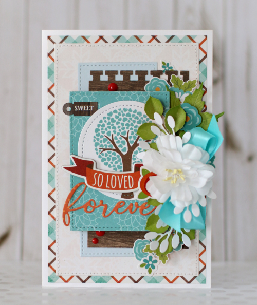 "Forever card by Anya Lunchenko with the ""I Love Family"" card and designer dies by #EchoParkPaper"