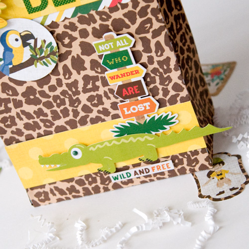 "We're wild about this gift bag by Tegan Skwiat featuring the ""Jungle Safari"" collection by #EchoParkPaper"