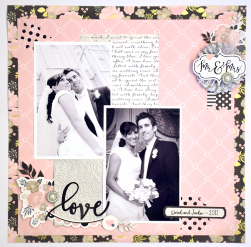 """Mr. & Mrs."" Layout by Tya Smith for #EchoParkPaper with the ""Wedding Bliss"" collection"