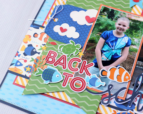 Back to School layout by Jana Eubank for #EchoParkPaper