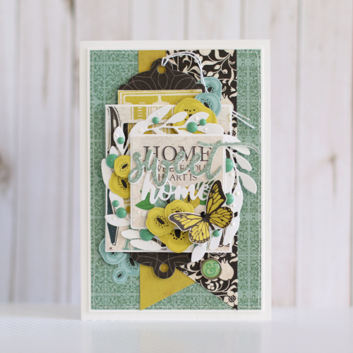 """Home Sweet Home"" card by Anya Lunchenko with the ""Our Family"" collection from #CartaBellaPaper"