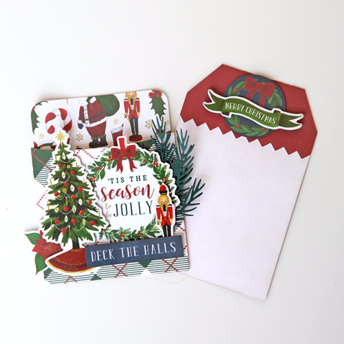 'Twas the Night Before Christmas card by Jana Eubank for #EchoParkPaper