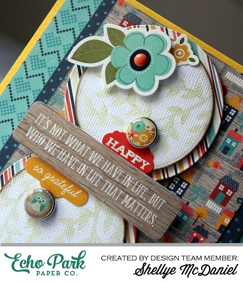 "Happy Vine Card by Shellye McDaniel with ""The Story of Our Family"" collection and Designer Stencils from #EchoParkPaper"