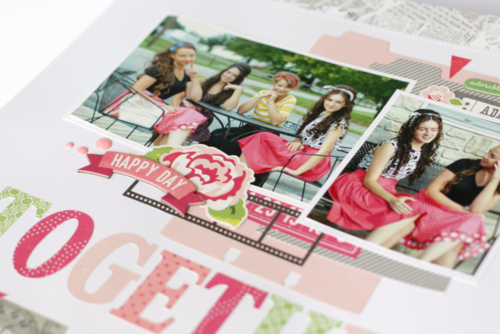 """Layout by Anya Lunchenko for #EchoParkPaper featuring """"Petticoats"""" collection and designer dies!"""