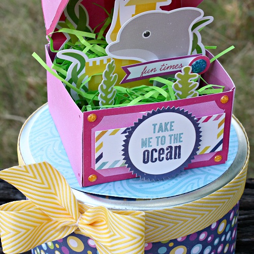 "Mermaid Treasure Chest by Shelly McDaniel with the ""Let's Be Mermaids"" collection from #EchoParkPaper"
