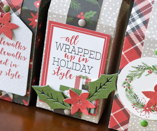 "Treat Boxes by Tegan Skwiat with the ""Christmas Delivery"" collection by #CaratBellaPaper"