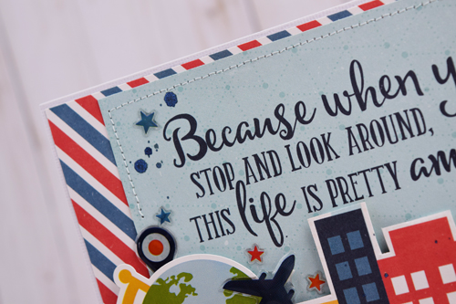 "Life Is amazing Card by Becki Adams with the ""Go. See. Explore."" collection from #EchoParkPaper"