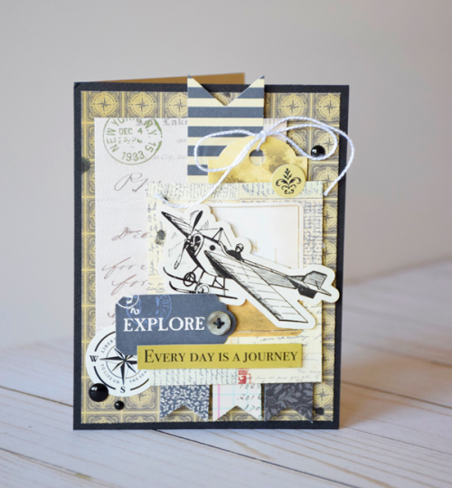 """Every Day is a Journey"" card by Tya Smith with the ""Transatlantic Travel"" collection by #CartaBellaPaper"
