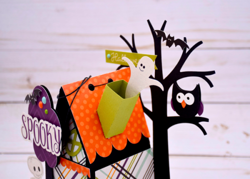 "Haunted Halloween House Decor by Tya Smith with the ""Halloween Town"" collection by #EchoParkPaper"