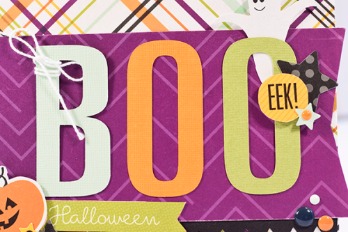 "Boo! Card by Tya Smith the the ""Halloween Town"" collection by #EchoParkPaper"