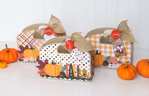 A Perfect Autumn Muffin Tote by Jana Eubank for #EchoParkPaper