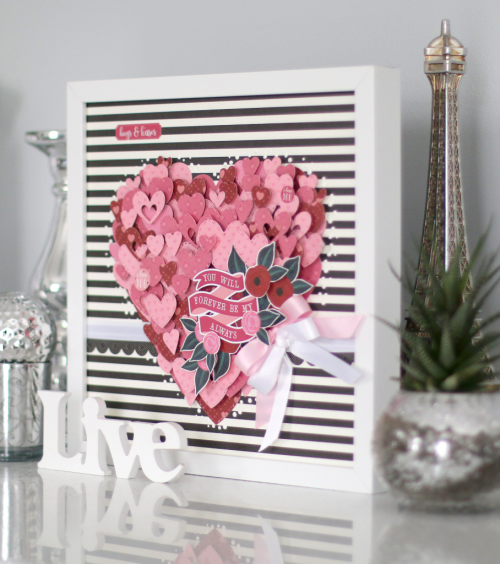"""Valentine's Day framed heart art by Anya Lunchenko with the """"Hello Sweetheart"""" collection by #CartaBellaPaper"""
