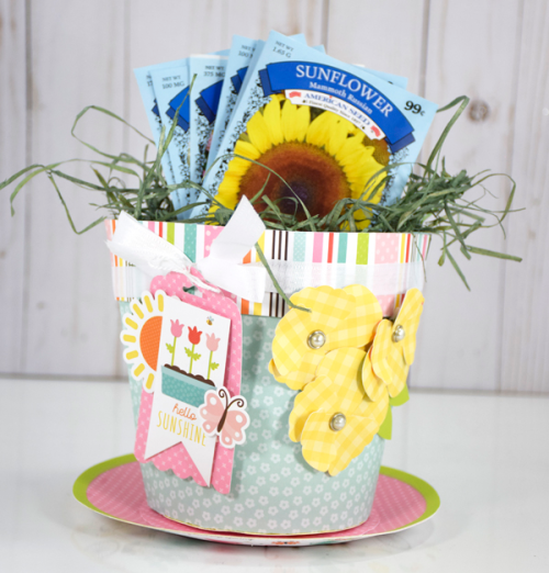 "Spring Flower Pot by Tya Smith with the ""Hello Spring"" Collection from #EchoParkPaper"