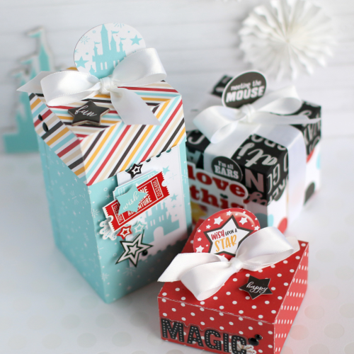 """Treat boxes by Anya Lunchenko featuring the """"Wish Upon a Star"""" collection by #EchoParkPaper"""