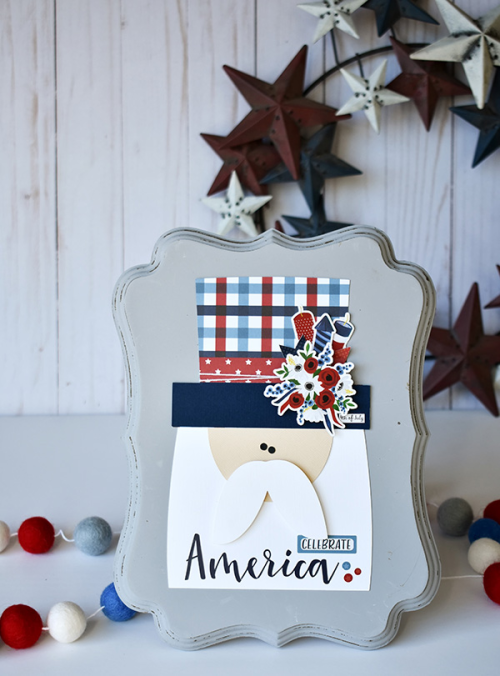 "Uncle Sam Framed Decor by Wendy Sue Anderson with the ""Celebrate America"" collection by #EchoParkPaper"