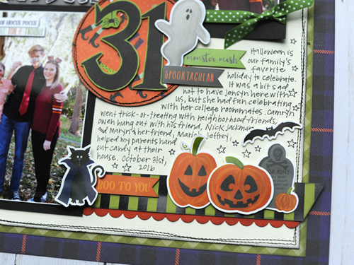 """31"" Halloween layout by Jana Eubank featuring the ""Hocus Pocus"" collection by #EchoParkPaper"