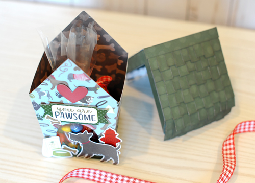 """You are Pawsome"" shaped gift box by Jana Eubank featuring the ""A Dog's Tail"" collection by #EchoParkPaper"