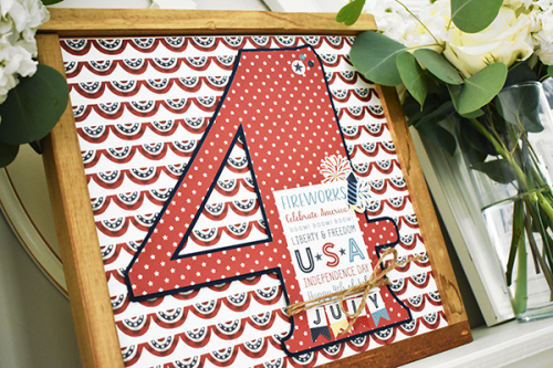 "4th of July framed home decor by Wendy Sue Anderson featuring the ""Celebrate America"" collection by #EchoParkPaper"