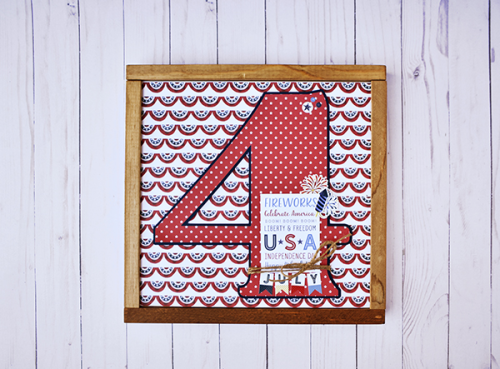 """4th of July framed home decor by Wendy Sue Anderson featuring the """"Celebrate America"""" collection by #EchoParkPaper"""
