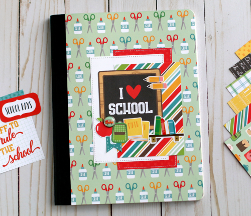 """Back to School"" composition notebook by Anya Lunchenko for #EchoParkPaper"