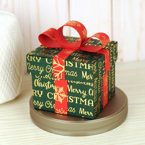 Gold Foil Cardstock Stocking Stuffer Boxes by Jana Eubank for #CartaBellaPaper
