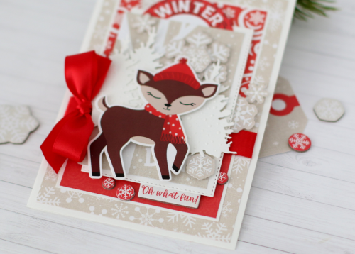 "Winter card by Anya Lunchenko featuring the ""Celebrate Winter"" collection by #EchoParkPaper"
