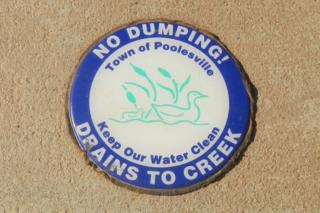 storm drain sticker